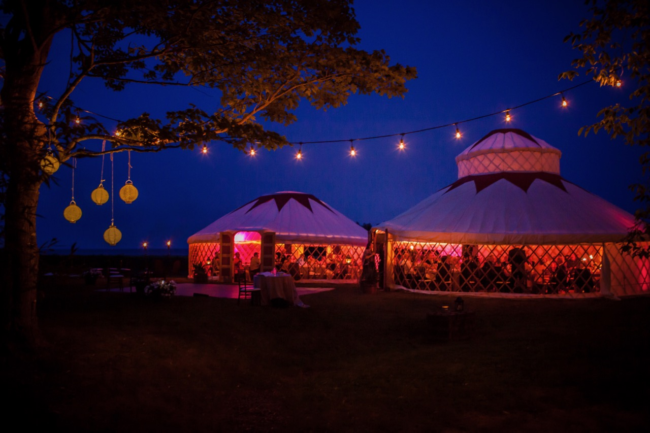 Light up the night with the Palace & Lotus Yurts